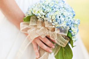Blue-Hydrangeas-Rustic-Wedding-Bouquet