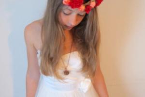 Copy of Flower girl hair ideas with fresh flowers headband